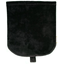 Flap of small shoulder bag black velvet - PPMC
