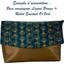 Flap of shoulder bag eventail or vert