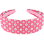 Wide headband small flowers pink blusher - PPMC