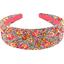 Diadema larga cuadrado de flores - PPMC