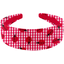 Wide headband ladybird gingham