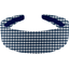 Wide headband navy blue gingham - PPMC
