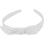 bow headband white sequined - PPMC