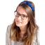 bow headband navy blue