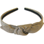 bow headband gold linen - PPMC