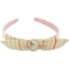 bow headband silver pink striped - PPMC