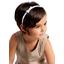 Thin headband striped blue gray glitter