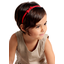 Thin headband tangerine red