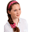 Wide headband cherry cornflower