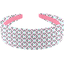 Diadema larga astillas fosforescente - PPMC
