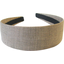 Wide headband gold linen