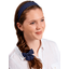 Wide headband navy blue spots