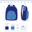 Children rucksack striped blue gray glitter