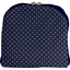 Foldable rucksack  navy blue spots