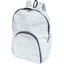 Foldable rucksack  striped blue gray glitter - PPMC