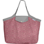 Tote bag with a zip plum lichen - PPMC