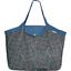 Grand sac cabas milli fleurs vert azur - PPMC