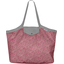 Sac cabas taille moyenne plissé lichen prune rose - PPMC