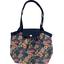 Petit sac cabas plissé dahlia rose marine - PPMC