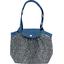 Petit sac cabas plissé milli fleurs vert azur - PPMC