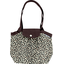 Pleated tote bag-Small size leopard print
