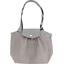 Petit sac cabas plissé pois gris clair - PPMC