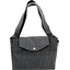 Tote bag with a zip silver gray