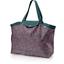 Grand sac cabas en tissu camelias rubis - PPMC