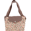 Tote bag with a zip confetti aqua