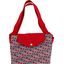 Tote bag with a zip poppy