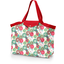 Tote bag with a zip powdered  dahlia - PPMC
