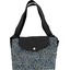 Tote bag with a zip parts blue night