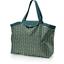 Grand sac cabas en tissu eventail or vert - PPMC