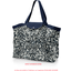 Tote bag with a zip chinese ink foliage  - PPMC