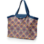 Grand sac cabas en tissu fleurs de savane
