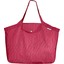 Tote bag with a zip silver fuchsia