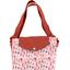 Grand sac cabas en tissu herbier rose