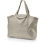 Tote bag with a zip silver linen - PPMC