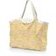 Grand sac cabas en tissu mimosa jaune rose - PPMC