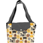Tote bag with a zip yellow sheep
