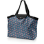 Tote bag with a zip flowered night - PPMC