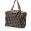 Tote bag with a zip ochre bird - PPMC