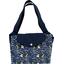 Grand sac cabas en tissu orque bleue