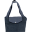 Tote bag with a zip silver straw jeans