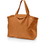 Tote bag with a zip caramel golden straw - PPMC