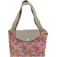 Tote bag with a zip purple meadow