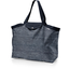 Tote bag with a zip striped silver dark blue - PPMC