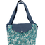Tote bag with a zip celadon violette