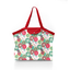 Pleated tote bag - Medium size powdered  dahlia - PPMC