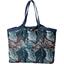 Bolso  cabas  mediano con cremallera feuillage marine - PPMC